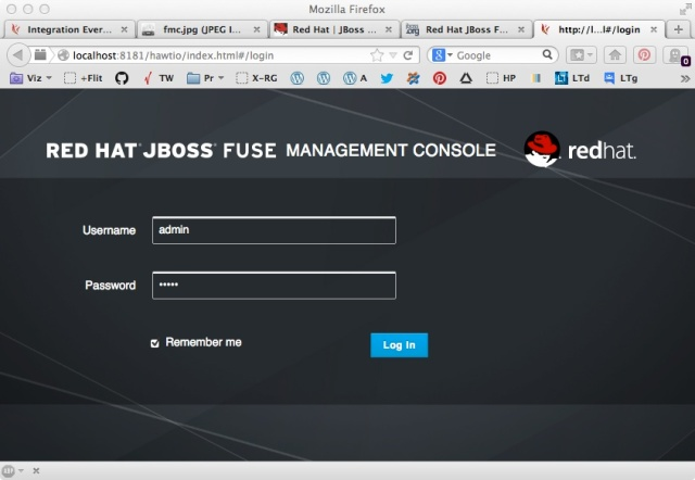 JBoss FUSE login