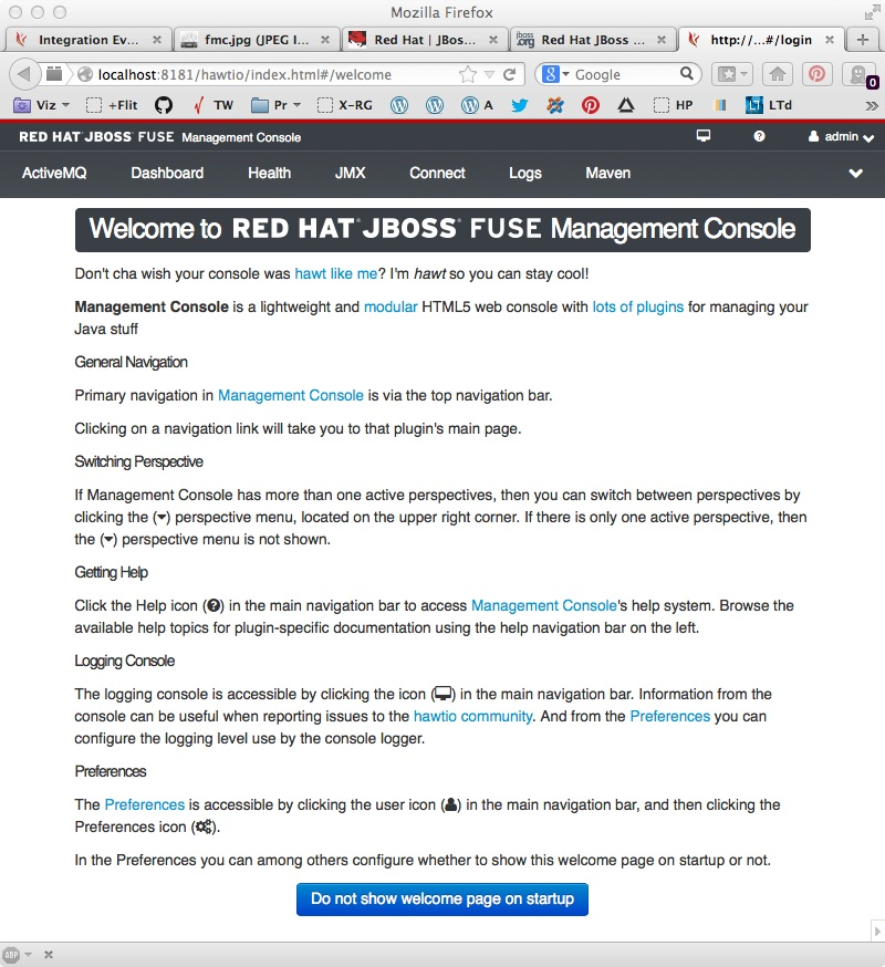 JBoss FUSE welcome