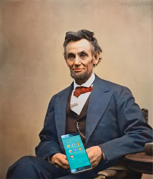 Abraham Lincoln Galaxy Note 7